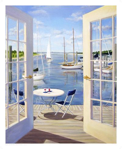 Table on the Harbor-Carol Saxe-Art Print