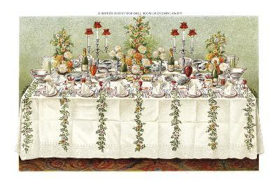 Table Settings - Buffet-The Vintage Collection-Giclee Print
