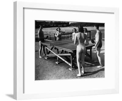 Table Tennis Fun--Framed Photographic Print