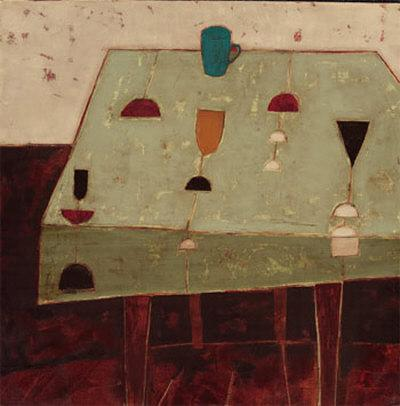 Table with Blue Cup-Oakley-Art Print