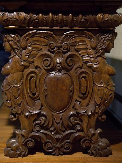 Table with Carved Pedestal Legs, Italy, 16th-17th Century--Giclee Print