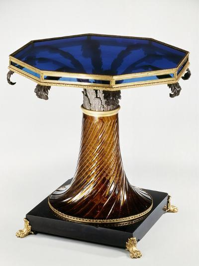 Table with Stained-Glass Top--Giclee Print