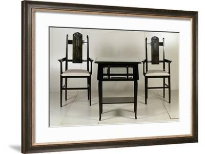 Table with Two Armchairs, 1906-Giacomo Cometti-Framed Giclee Print