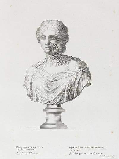 Tableau du Cabinet du Roi, statues et bustes antiques des Maisons Royales Tome II : planche 15-Etienne Baudet-Giclee Print