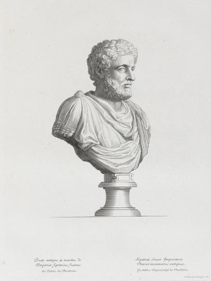 Tableau du Cabinet du Roi, statues et bustes antiques des Maisons Royales Tome II : planche 32-Etienne Baudet-Giclee Print