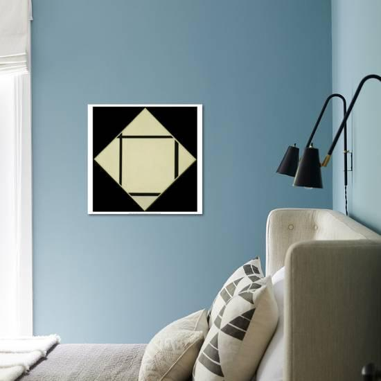 Tableau I Lozenge With Four Lines And Gray 1926 Art Print Piet Mondrian Art Com