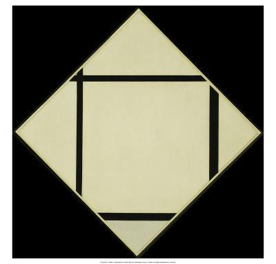 Tableau I - Lozenge with Four Lines and Gray, 1926-Piet Mondrian-Art Print