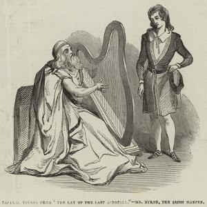 Tableau Vivant from The Lay of the Last Minstrel, Mr Byrne, the Irish Harper