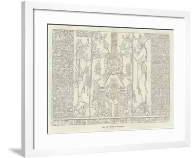 Tablet at Palenque--Framed Giclee Print