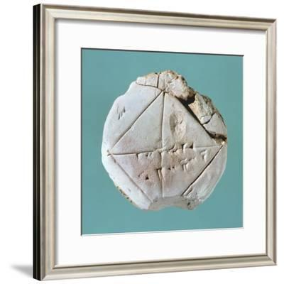 Tablet Depicting Square and Diagonal Geometric Shapes--Framed Giclee Print