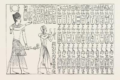 Tablet of Kings at Abydos, Egypt, 1879--Giclee Print