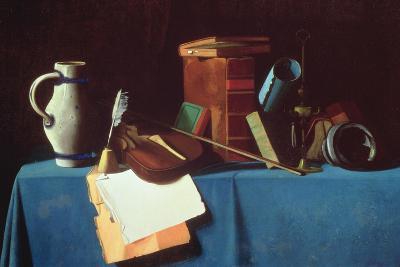 Tabletop with Violin-John Frederick Peto-Giclee Print