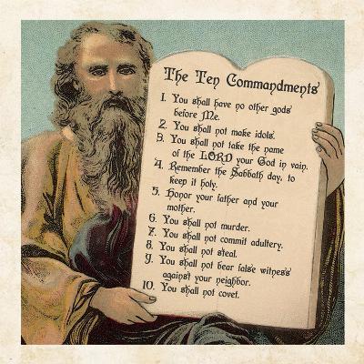Tablets of the Ten Commandments-Veruca Salt-Art Print