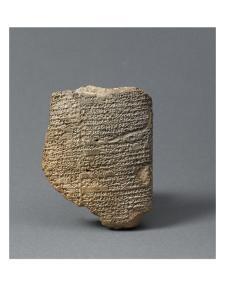 Tablette cunéiforme racontant le mythe de la création de l'homme