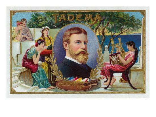 Tadema Brand Cigar Box Label-Lantern Press-Art Print