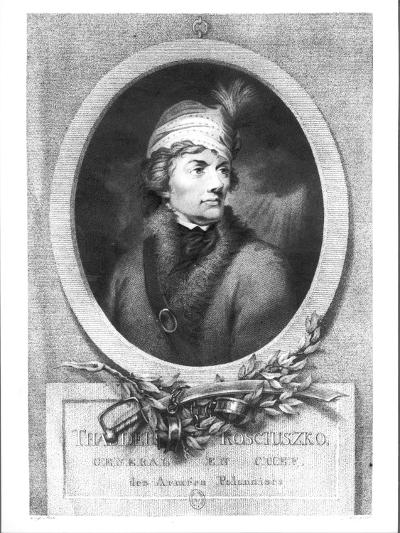 Tadeusz Kosciuszko, Published 1794-98-Josef Grassi-Giclee Print