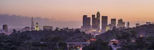 Panoramic View of Downtown Los Angeles at Sunset by Taesam Do