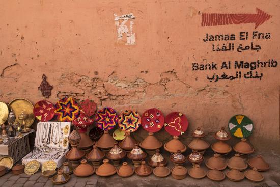 Tagines for Sale in Marrakech, Morocco-Brenda Tharp-Photographic Print