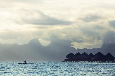 Tahiti Island, with Moorea in the Background-Andy Bardon-Photographic Print