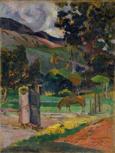 Tahitian Landscape, 1892-Paul Gauguin-Giclee Print