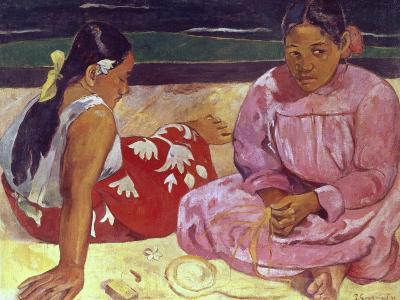 Tahitian Women (On the Beach)-Paul Gauguin-Giclee Print