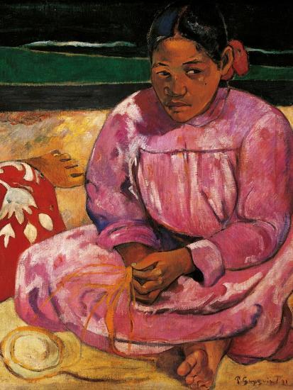 Tahitian Women-Paul Gauguin-Art Print