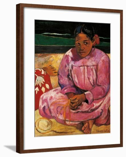 Tahitian Women-Paul Gauguin-Framed Art Print