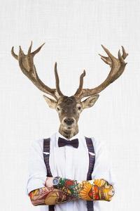 Deer Man by Tai Prints