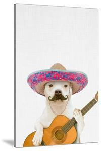 Dog Guitarist by Tai Prints