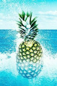 Pineapple and Splashes by Tai Prints