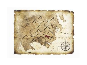 Old Treasure Map by TaiChesco
