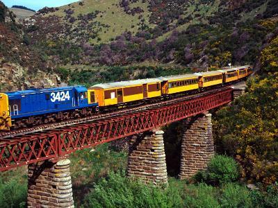 Taieri Gorge Train, near Dunedin, Otago, New Zealand-David Wall-Photographic Print