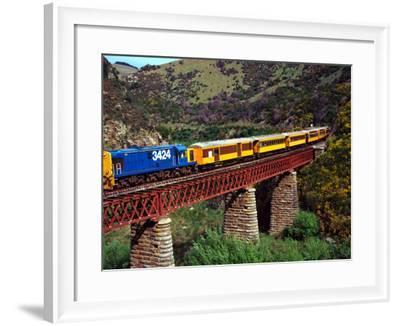 Taieri Gorge Train, near Dunedin, Otago, New Zealand-David Wall-Framed Photographic Print