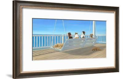 Tails on a Porch Swing-Carol Saxe-Framed Art Print