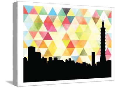 Taipei Triangle-Paperfinch 0-Stretched Canvas Print
