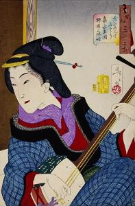 Looking as if She Is Enjoying Herself: The Appearance of a Teacher During the Kaei Period by Taiso Yoshitoshi