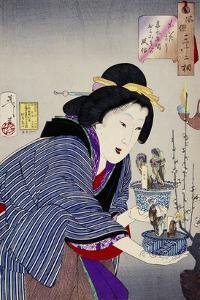 Looking as if She Wants to Change: The Appearance of a Proprietress of the Kaei Era by Taiso Yoshitoshi