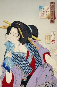 Looking in Pain: The Appearance of a Prostitute of the Kansei Era by Taiso Yoshitoshi