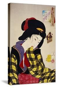 Looking Shy: The Appearance of a Young Girl of the Meiji Era by Taiso Yoshitoshi