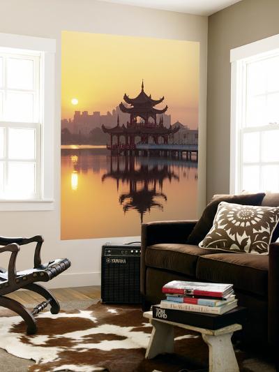 Taiwan, Kaohsiung, Lotus Lake at Sunset-Steve Vidler-Wall Mural