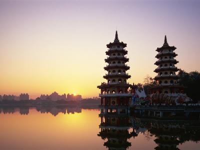 Taiwan, Kaohsiung, Lotus Lake, Dragon and Tiger Pagodas-Steve Vidler-Photographic Print