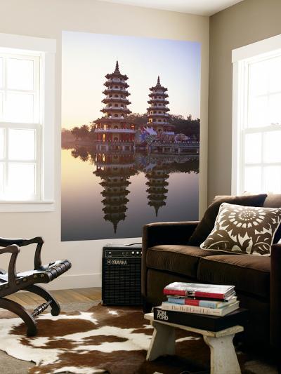 Taiwan, Kaohsiung, Lotus Lake, Dragon and Tiger Pagodas-Steve Vidler-Wall Mural