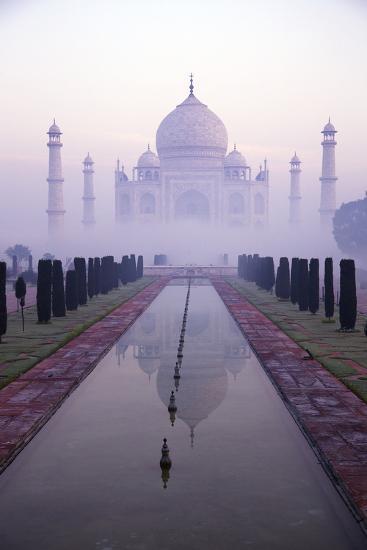 Taj Mahal at Dawn, UNESCO World Heritage Site, Agra, Uttar Pradesh, India, Asia-Peter Barritt-Photographic Print