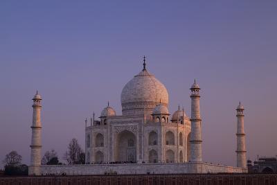 Taj Mahal North Side Viewed across Yamuna River at Sunset, Agra, Uttar Pradesh, India, Asia-Peter Barritt-Photographic Print
