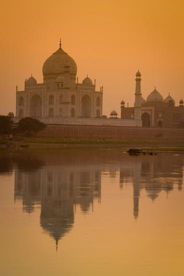 Taj Mahal Reflected in the Yamuna River at Sunset-Doug Pearson-Photographic Print