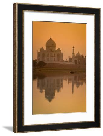 Taj Mahal Reflected in the Yamuna River at Sunset-Doug Pearson-Framed Photographic Print
