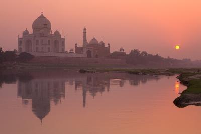 Taj Mahal Reflected in the Yamuna River at Sunset-Doug Pearson-Photographic Print