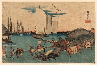 Takanawa Okido No Zu-Utagawa Hiroshige-Giclee Print