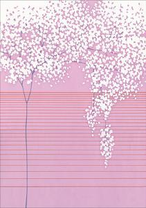 Floral with Horizontal Lines by Takashi Sakai