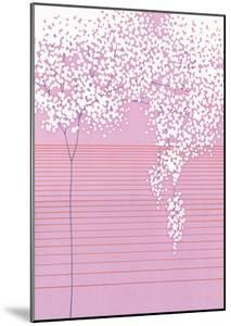 Floral with Horizontal Lines by Takashi Sakai